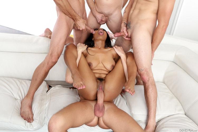 Tara Foxx gangbang interracial Photo 13