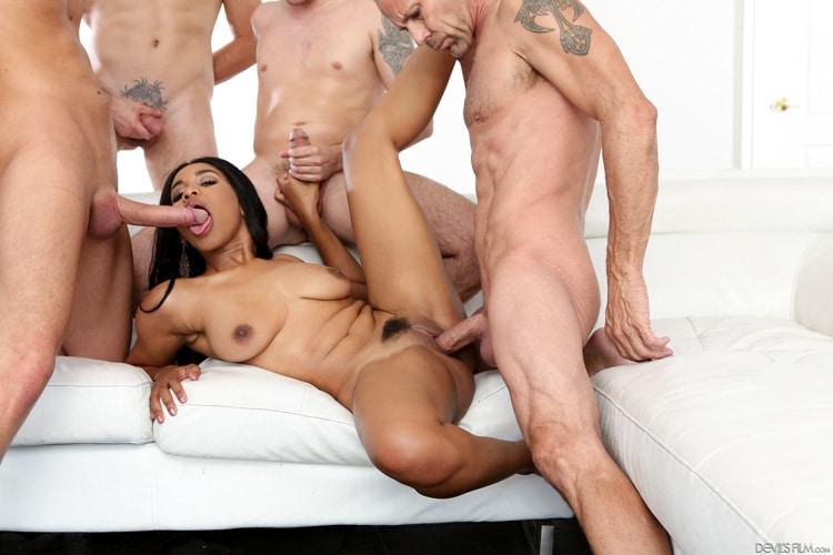 Tara Foxx gangbang interracial Photo 7
